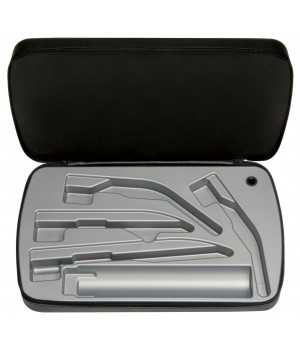 Zipper case for laryngoscopes