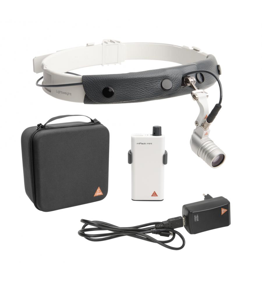 HEINE LED MicroLight 2 on Headband with mPack mini
