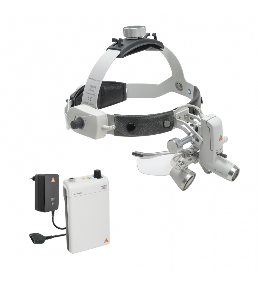HEINE ML4 LED HeadLight Kit 1 with HR 2.5x / 340 mm